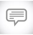 Talk black icon vector image vector image