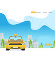 taxi graphic design in flat style vector image vector image