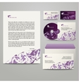 Template with purple triangles vector image vector image