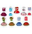 the set of elements of female clothes isolated on vector image vector image