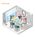 time together isometric composition vector image vector image