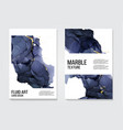 trendy modern liquid marble texture template vector image
