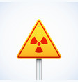 triangle radiation sign isolated vector image