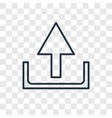 upload concept linear icon isolated on vector image