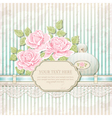 Vintage background with roses and perfume bottle vector image vector image