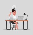 woman designer have an idea vector image vector image
