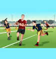 young people playing flag football vector image vector image