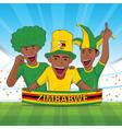 zimbabwe football support vector image vector image