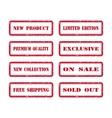 Grunge Rubber Stamp Set For A Shop vector image