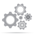 Gear set design on white background Grey gear vector image