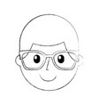 cartoon happy young boy with glasses teacher day vector image