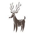 18255 deer vector image