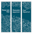 a set of banners a sea vector image vector image