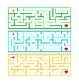 a set of rectangular labyrinths an interesting vector image