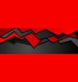 abstract black red corporate banner design vector image vector image