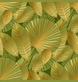 abstract tropical foliage seamless pattern vector image vector image