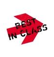 Best in class stamp vector image vector image