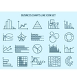 business charts line icons vector image vector image