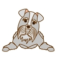 cartoon dog icon vector image vector image