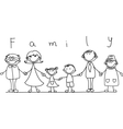 Cartoon family vector image vector image