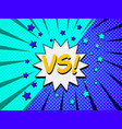 comic competitive concept vector image vector image