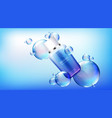 cosmetic tube mock up beauty cosmetics bottle vector image vector image