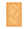 cracker chips rectangle shape isolated on white vector image vector image