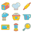 cute icon kitchen appliances vector image vector image