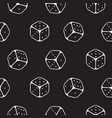 dice seamless pattern line icons monochrome vector image