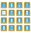 door icons azure vector image vector image