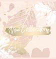 elegant social media trendy chic gold rose banner vector image