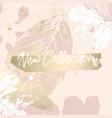 elegant social media trendy chic gold rose banner vector image