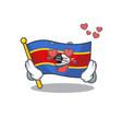Falling in love happy cute flag swaziland cartoon