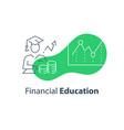 financial education concept stock market analysis vector image