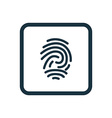fingerprint icon rounded squares button vector image vector image