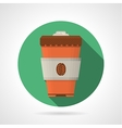 Flat color icon for coffee cup vector image