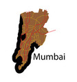 flat icon map of mumbai vector image vector image