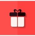 gift box icon flat design vector image