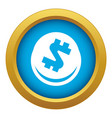 global finance circle icon blue isolated vector image vector image