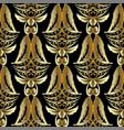 gold 3d damask seamless pattern luxury vintage vector image vector image