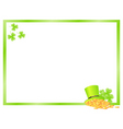 green frame vector image vector image