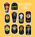 halloween bottle labels potion labels with vector image vector image