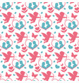 happy valentine s day seamless pattern cute vector image vector image