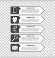 infographic templates with smartphone people gear vector image
