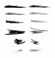 ink brush strokes set paint spots hand drawn vector image vector image