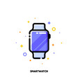 line icon of smart watch for gadget concept vector image vector image