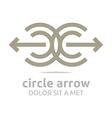Logo Design Letter C Arrow Brown IcCircle Arrow 17 vector image vector image