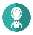 male surgeon medical professional shadow vector image