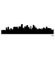 Miami skyline vector image vector image