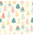 modern doodle christmas seamless vector image vector image